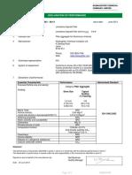 Declaration of Performance En13043 Limestone Asphalt Filler