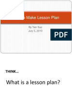 4A of Lesson Planning