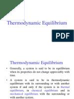 Lecture #3 Thermodynamic Equillibrium