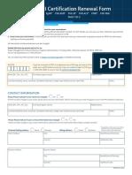 PMI Certification Renewal Form
