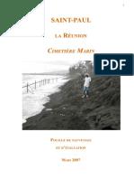 PDF Cimetière des Esclaves de St Paul. Découvert en 2007 par Gamède
