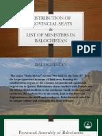 distribution of provencial seats balochistan