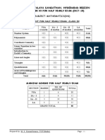 Maths Class Ix Half Yearly Exam Sample Paper 03