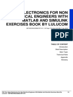 basic electronics for non electrical engineers with matlab and simulink exercises book by lulucom