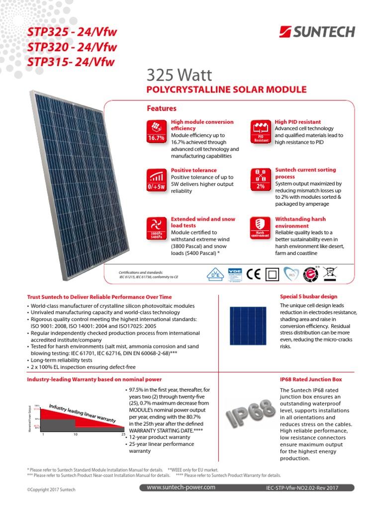 Suntech 325 Poly | Solar Panel | Solar Cell