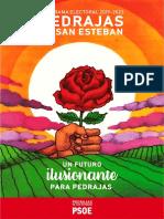 Programa Electoral 2019-2023 Psoe Pedrajas de San Esteban
