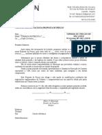 Carta Apresentação Proposta Preço