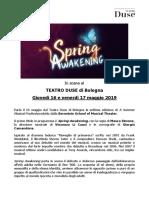 Comunicato Spring Awakening