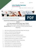 Rajasthan Drug Manufacturers NPPA