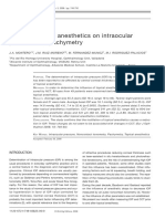Effect of Topical Anesthetics on Intraocular Pressure and Pachymetry