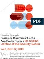International Workshop for Peace and Disarmament in the Asia-Pacific Region
