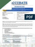 Information Sheet 2019