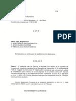 Resolució de l'Audiència de Barcelona en què declara la competència del cas al jutjat d'instrucció 24 de Barcelona