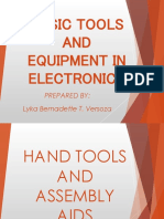 Basic Tools and Equipment in Electronics