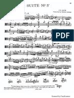 suite nº5 bach viola, preludio y allegro