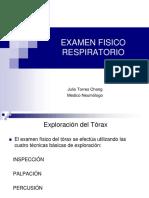 Examen Fisico Respiratorio