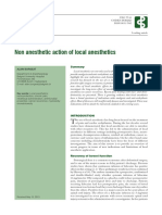 Non Anesthetic Action of Local Anesthetics