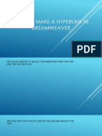 How to make a hyperlink in dreamweaver.pptx
