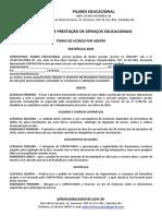 Contrato de Prestação de Serviços Pilares 2019