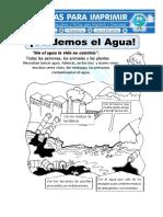 Ficha de Cuidar El Agua Para Primaria