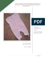 Aurora Baby Girl Romper Suite 9-12