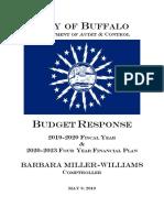 Budget Response 2019-2020