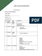 Blank Course Module Proforma