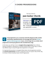 10 Jazz Guitar Chord Progressions