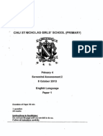P4 English SA2 2013 CHIJ Test Paper