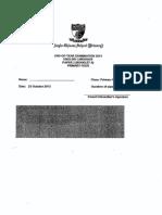P4 English SA2 2013 ACS Test Paper