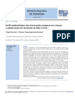 Perfil Epidemiológico de Intoxicações Exógenas Em Crianças e Adolescentes No Município Do Mato Grosso