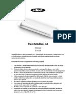 Manual plastificadora