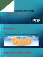 Rain Water Harvesting!