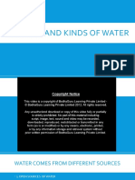 KINDS OF WATER