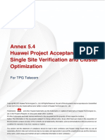 Annex 5.4 - Huawei Project Acceptance - Site and Cluster Optimization V1.6