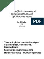 Eesti Hariduse Demokratiseerumisest ja humaniseerumisest 1987+. E-S Sarv