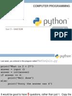 9.05 Python Scheme of Work