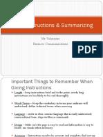 GivingInstructions&Summarizing2