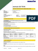 Komatsu Powertrain Oil TO10
