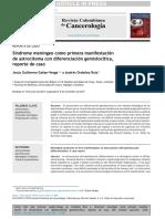 Síndrome Meníngeo Como Primera Manifestación Astrocitoma Diferenciac Gemisotica Caso