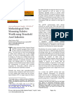 Methodological Note- Measuring Relative Wealth Using Household Asset Indicators