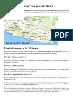 Mapa de El Salvador Con Sus Carreteras