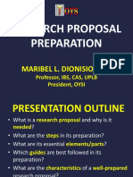 10.27-28 2. Research Proposal Preparation