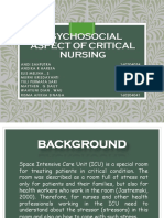 Psychosocial Aspect of Critical Nursing Pak Jo