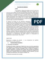 Informe 3 Balance Energia
