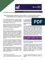 Informalidad Laboral y Su Relacion Con El Crecimientom Economico e Inclusion Financiera