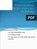Engineering Properties and Uses of Rocks