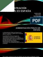 Administración Publica en España Reallllllll........