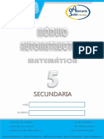 Mod Auto Matemática 5 Sec IV Bim 2016