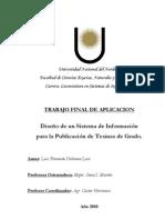 Stma de Publicación de Tesinas (en Genexus)